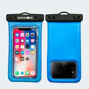 Pochette étanche bleu pour téléphone portable